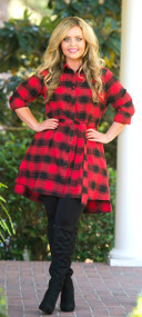 Cliff Hanger Tunic  -  Red