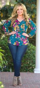 Ever And Ever Top  -  Teal***FINAL SALE***
