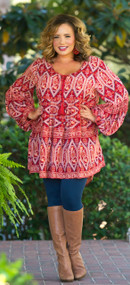 Secret To Success Tunic  -  Red***FINAL SALE***