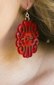 Uptown Girl Earrings - Red