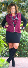 Tried And True Vest  -  Burgundy***FINAL SALE***