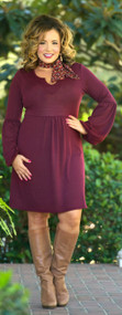 Dare To Compare Dress - Burgundy***FINAL SALE***
