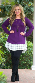 Charm My Heart Tunic  -  Eggplant***FINAL SALE***