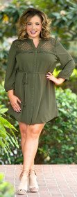 Salt Of The Earth Dress/Tunic  -  Olive***FINAL SALE***