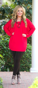 The Perfect Piko Top  - Red