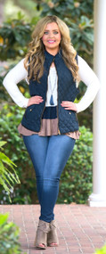 Tried And True Vest  -  Navy***FINAL SALE***
