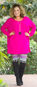 The Pink Lilly Tunic  -  Fuchsia