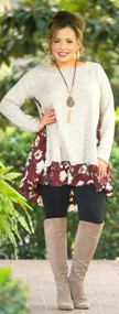 Mind Over Matter Tunic  -  Taupe