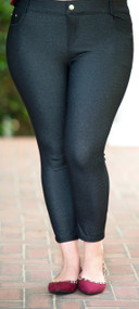 Curves Ahead Ankle Jegging  -   Black