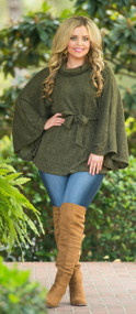 Raven Lane Sweater   -  Olive