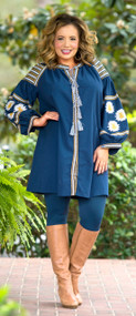 Grateful For You Dress / Tunic  -  Navy***FINAL SALE***