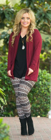 Wrapped In Luxury Cardigan  -   Burgundy