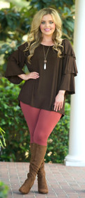Don't Ruffle My Feathers  -  Brown***FINAL SALE***