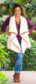Trim The Tree Vest  -  Taupe