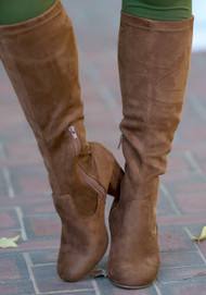 Stella Wide Calf Boot  -  Chestnut***FINAL SALE***