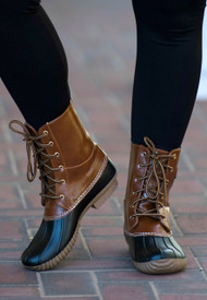 Trail Blazer Duck Boot  -  Black & Tan
