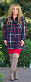 Season's Joy Tunic  - Navy