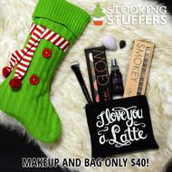 Love You Latte Stocking Stuffer Bag  -  Black