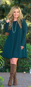 Bow And Arrow Dress  -  Green