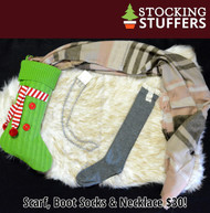 Santa's Helper Stocking Box  -  Gray