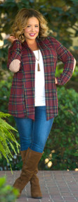 Christmas Wishes Cardigan  -  Red