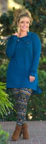 Cute As A Button Tunic  -  Blue