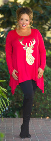 Trophy Wife Tunic  - Red & Gold