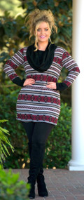 Ski Bunny Tunic  -  Wine***FINAL SALE***
