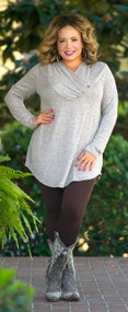 Long Winter Coming Tunic  - Taupe***FINAL SALE***