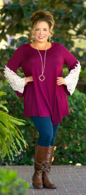 Sleigh The Day Top  -  Wine