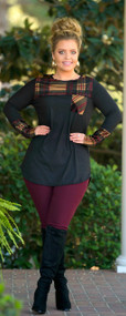 Holly And Jolly Top  -  Black***FINAL SALE***