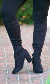 Stella Wide Calf Boot  -  Black***FINAL SALE***