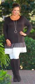 Lace And Grace Dress  -  Brown***FINAL SALE***