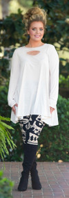 Hide And Seek Tunic  -  Off White