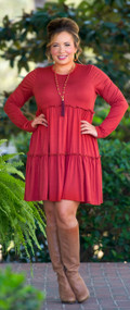 Baby It's Cold Outside Dress / Tunic  -  Rust