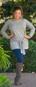 Knot Like Everyone Else Top  - Taupe***FINAL SALE***