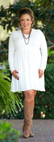 Baby It's Cold Outside Dress / Tunic  -  Off White