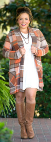 Plaid To Meet You Cardigan