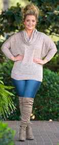 Sweeten The Deal Sweater  -  Taupe***FINAL SALE***