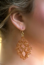 Uptown Girl Earring  -  Peach