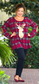 End Of The Season Tunic  -  Burgundy***FINAL SALE***