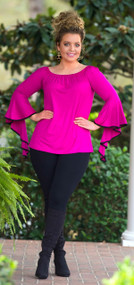 Charmed To Meet You Top  - Magenta***FINAL SALE***