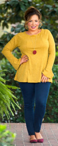 London Fog Top  -  Mustard***FINAL SALE***