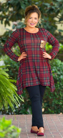 Southern Twang Tunic  -  Wine***FINAL SALE***