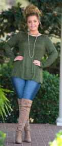 Anything But Ordinary Top - Olive