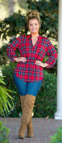 Northern Winds Top -  Red / Navy***FINAL SALE***