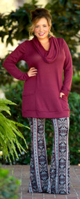 Backwoods Barbie Tunic - Wine