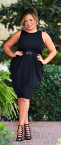 Dutch Tulips Dress  -  Black***FINAL SALE***