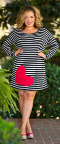 Give Me Kisses Dress / Tunic  - Black & White