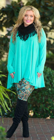 Modern Muse Tunic  -  Mint